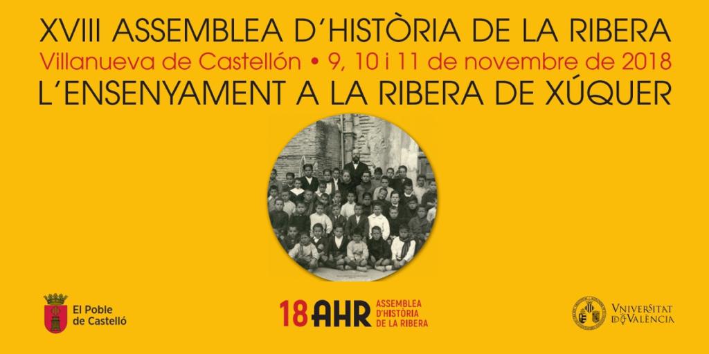 El programa de la XVIII Assemblea d'Història de la Ribera