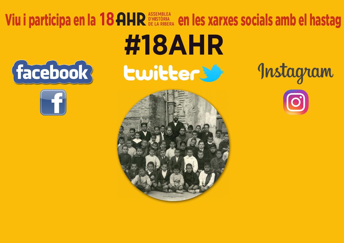 Viu i participa en la XVIII AHR en les xarxes socials amb el hastag #18AHR